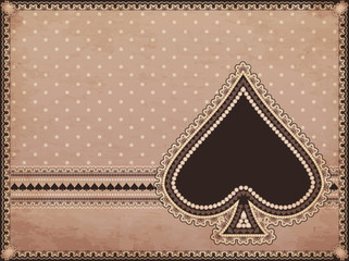 Casino old background with spades poker element