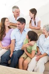 Smiling multigeneration family