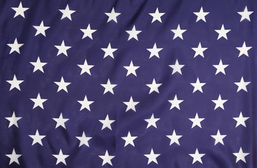 American flag with white stars.