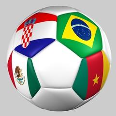 Balón Banderas grupo A mundial 2014