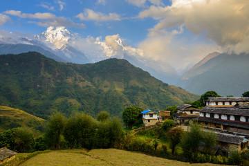Poster Nepal Ghandruk village in the Annapurna region