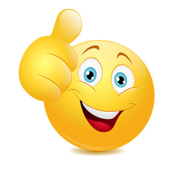 Emoticon showing thumb up