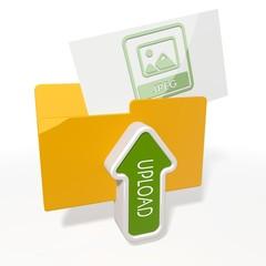 upload jpeg file file folder icon