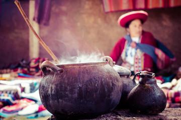 Traditional village in Peru, South America.