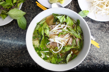Spicy Asian Beef and Noodle Soup