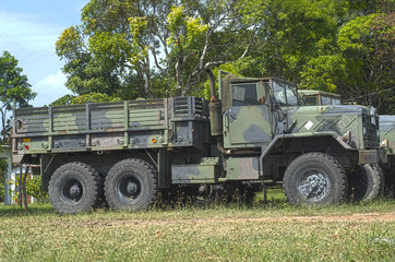 HDR image of an Army truck