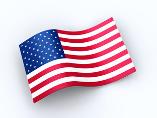 United States of America flag with clipping path