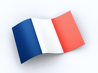 French Republic flag  with clipping path
