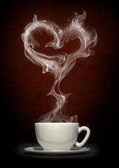 Coffee cup with steam