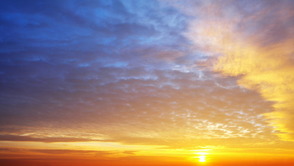 Only sky sunset