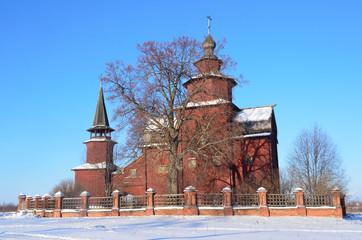 Ростов, церковь Иоана Богослова на Ишне зимой