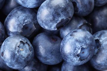fresh blueberries macro