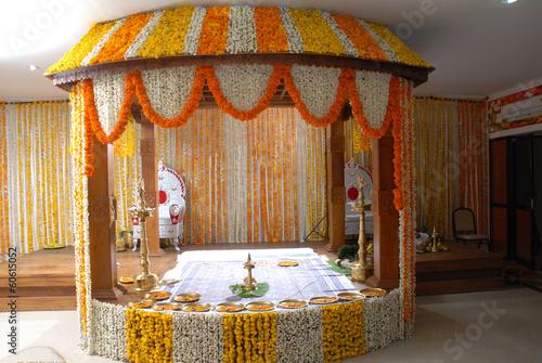 A kerala wedding flower decoration stock photo and royalty free a kerala wedding flower decoration junglespirit Image collections