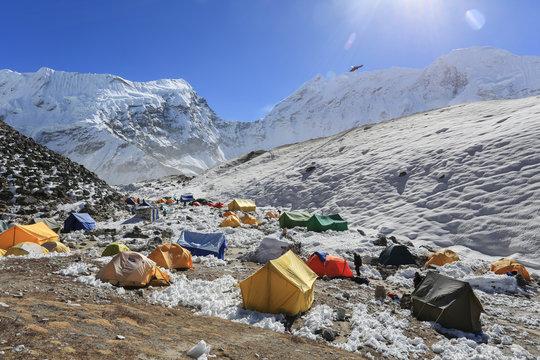 island peak basecamp from everest trek nepal