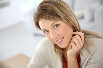 Portrait of beautiful middle-aged woman