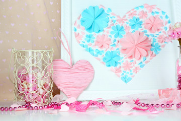 Home decor with handmade picture