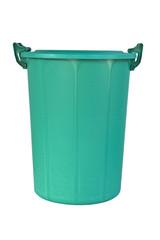 new close big green plastic recycle bin