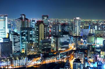 osaka japan night landscape