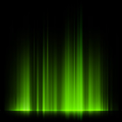 Green northern lights, aurora borealis. EPS 10