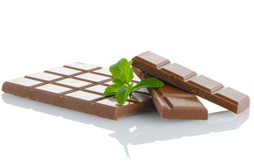 Aluminium Prints Grocery Closeup detail of chocolate parts