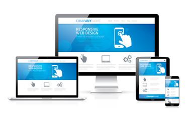 Scalable and flexible responsive web design concept vector EPS10 Wall mural