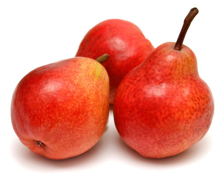 Three red pears