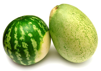 Two watermelon