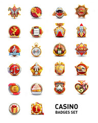 Casino Badges Set