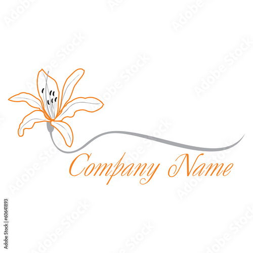 "lily flower logo"" stock image and royaltyfree vector files on, Beautiful flower"