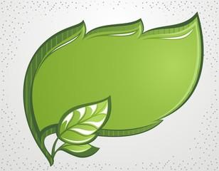 Vector green leaf frame