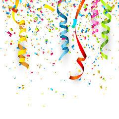 Birthday background with confetti