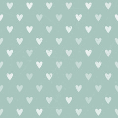 Vintage polka heart seamless background