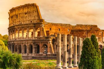 Canvas Prints Rome The Majestic Coliseum, Rome, Italy.