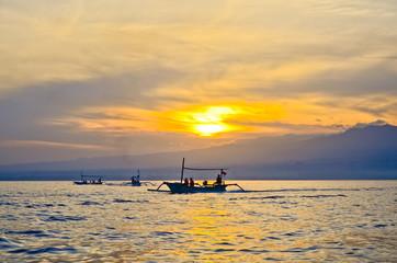 sunrise at Lovina beach Bali Indonesia