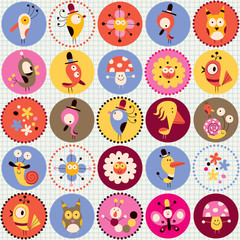 cute characters pattern