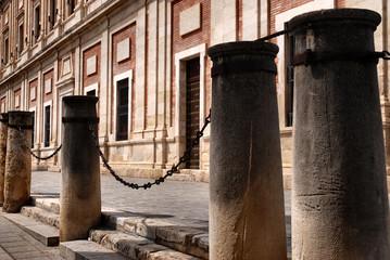 pillars around Cathedral of Saint Mary