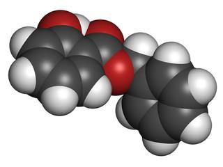 Benzyl salicylate (benzyl 4-hydroxybenzoate) molecule