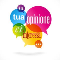La tua opinione ci interessa