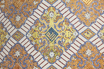 Islamic mosaic decoration in Doha, Qatar, Middle East