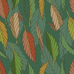 Vintage pattern with leaves