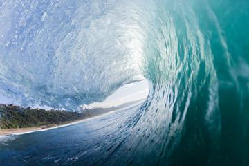 Autocollant pour porte Eau Hollow Inside Out Wave Ocean