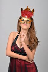 arab woman with masquerade mask