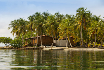 A tiny island in the caribbean Archipelago san Bernardo,