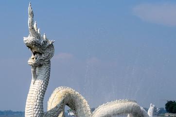 White Naga Statues