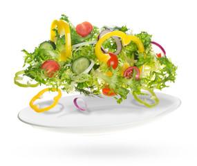 Fototapete - light salad of fresh vegetables