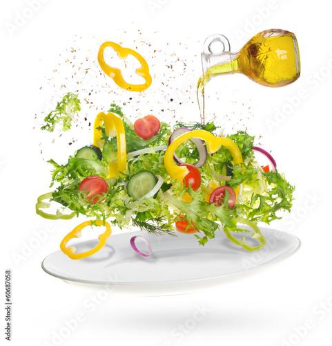Fototapete light salad of fresh vegetables