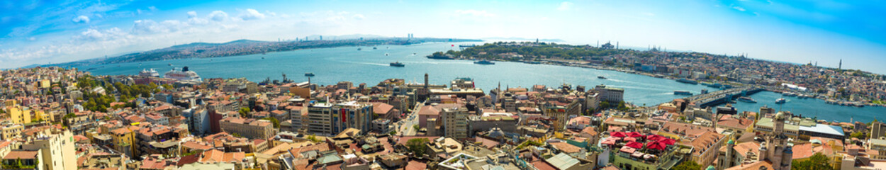 Printed roller blinds Turkey Istanbul panoramic view from Galata tower. Turkey