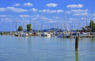 Sailing harbor at Lake Balaton,Hungary