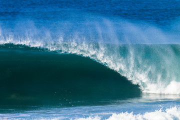 Autocollant pour porte Eau Ocean Wave Hollow Crashing