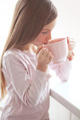Child drinking cocoa